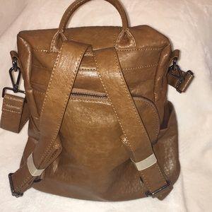 Handbags - New! Backpack/Shoulder Flex Bag Soft Faux Leather